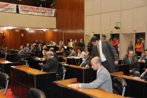 A votação foi realizada durante Reunião Extraordinária de Plenário realizada nesta quinta (12) - Foto:Guilherme Bergamini