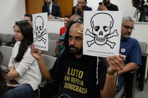 Participantes da reunião atribuem avanço de projeto no Congresso a lobby de multinacionais
