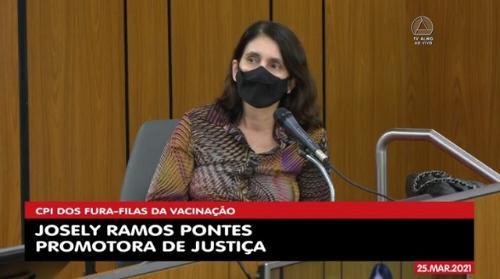 Segundo Josely Pontes, o MP recomendou avaliar risco sanitário dos vacinados antes de aplicar segunda dose